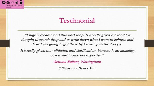 Testimonial - Gemma